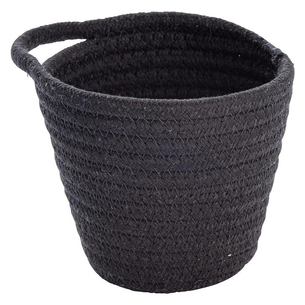 Černý závěsný úložný košík Wenko