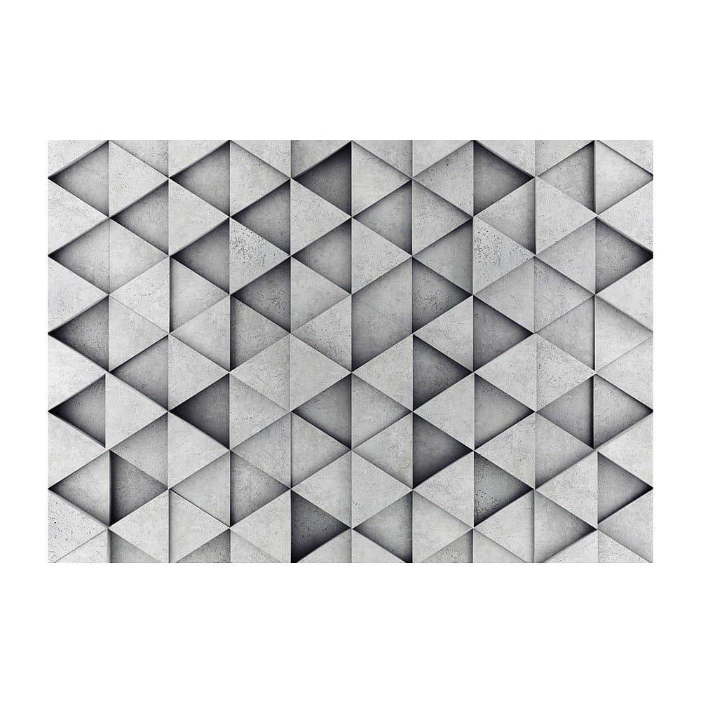 Velkoformátová tapeta Bimago Grey Triangle, 400x280cm