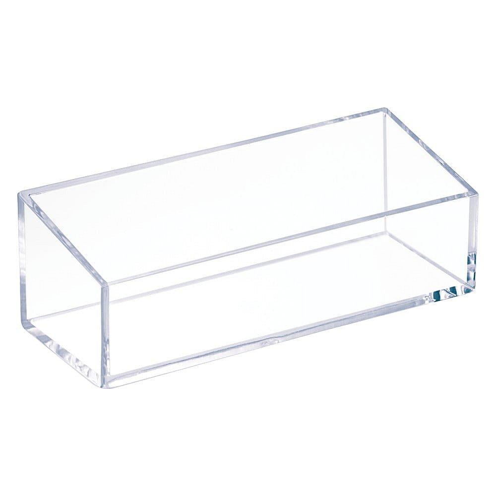 Průhledný stohovatelný box iDesign Clarity, 15x6cm