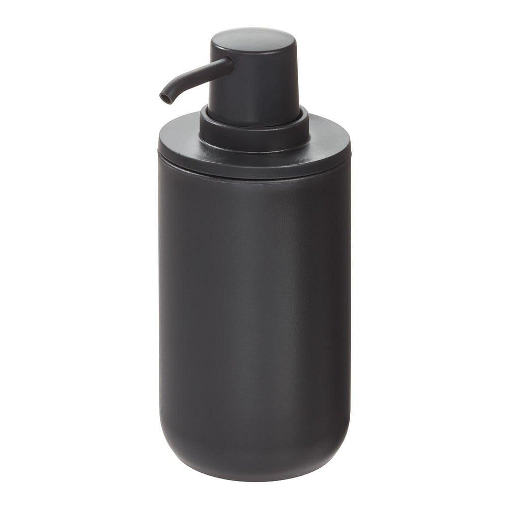 Černý dávkovač na mýdlo iDesign Cade, 335ml