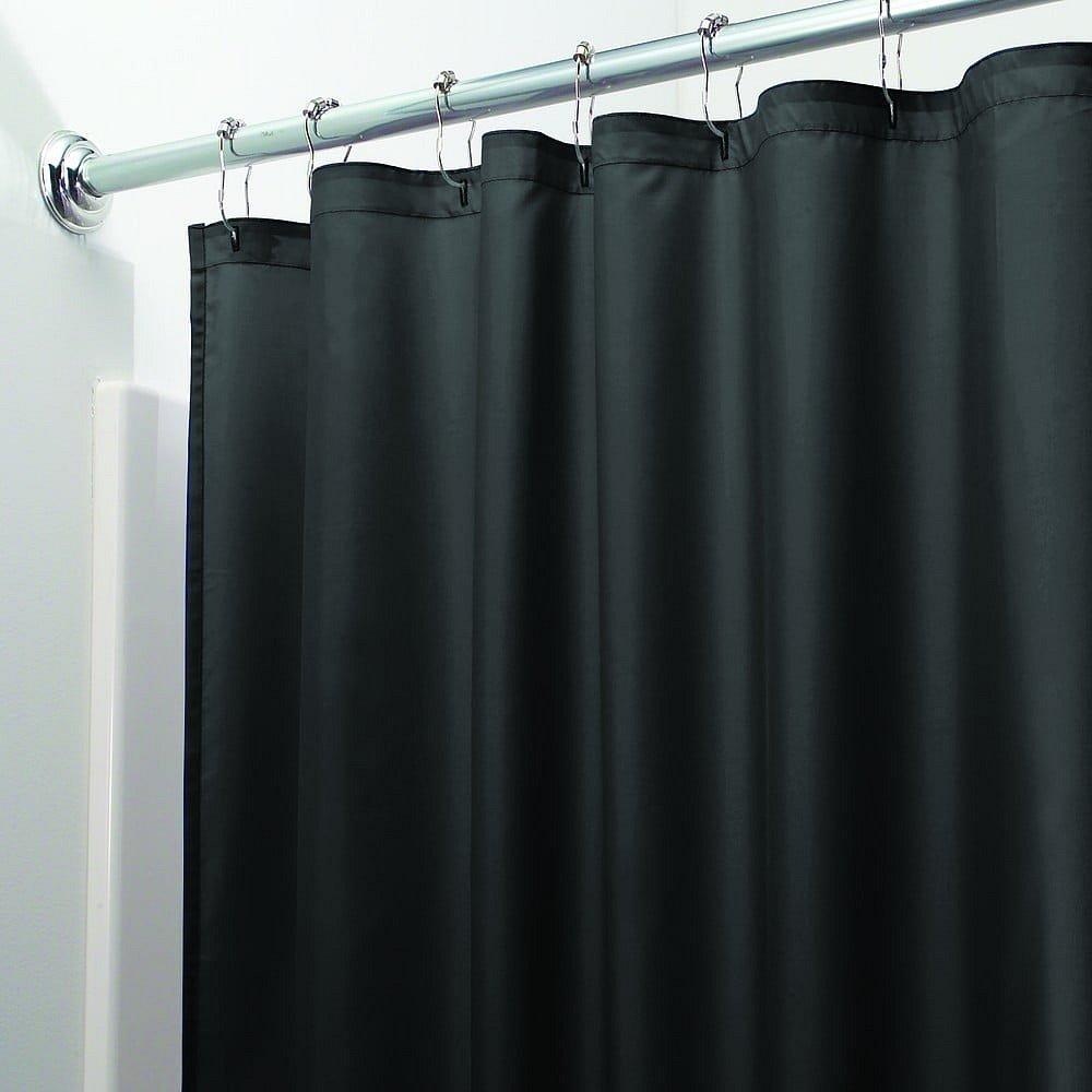 Černý sprchový závěs iDesign, 200x180cm