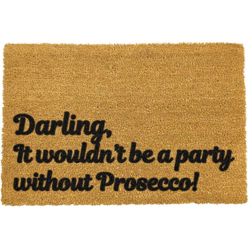 Rohožka z přírodního kokosového vlákna Artsy Doormats Darling Prosecco,40x60cm