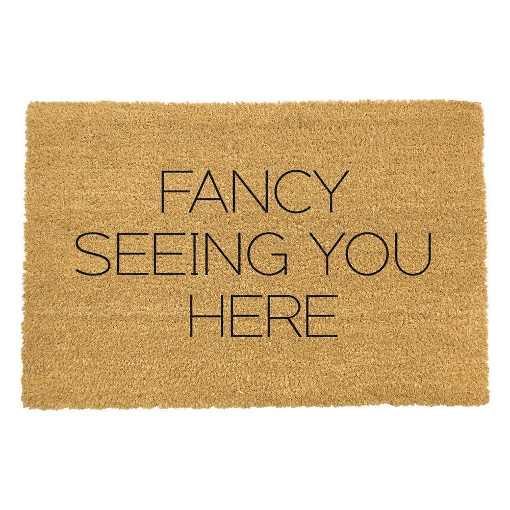 Rohožka z přírodního kokosového vlákna Artsy Doormats Fancy Seeing You Here,40x60cm
