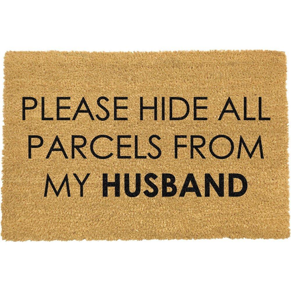 Rohožka z přírodního kokosového vlákna Artsy Doormats Please Hide,40x60cm