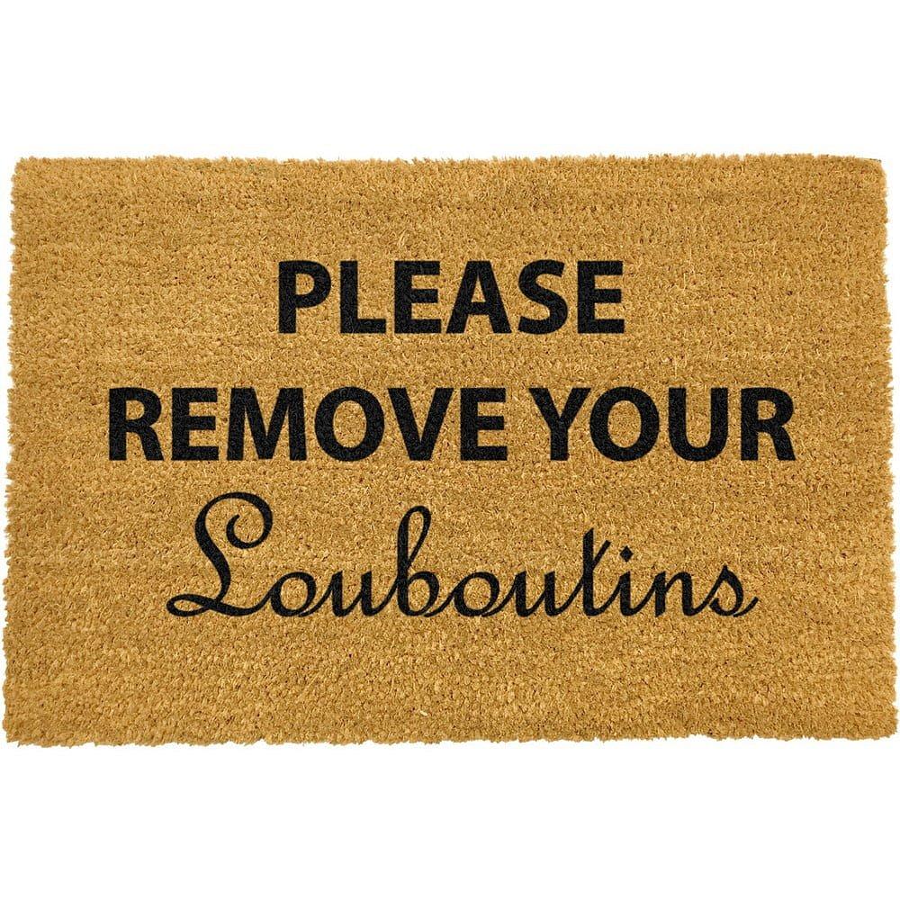 Rohožka z přírodního kokosového vlákna Artsy Doormats Your Louboutins,40x60cm