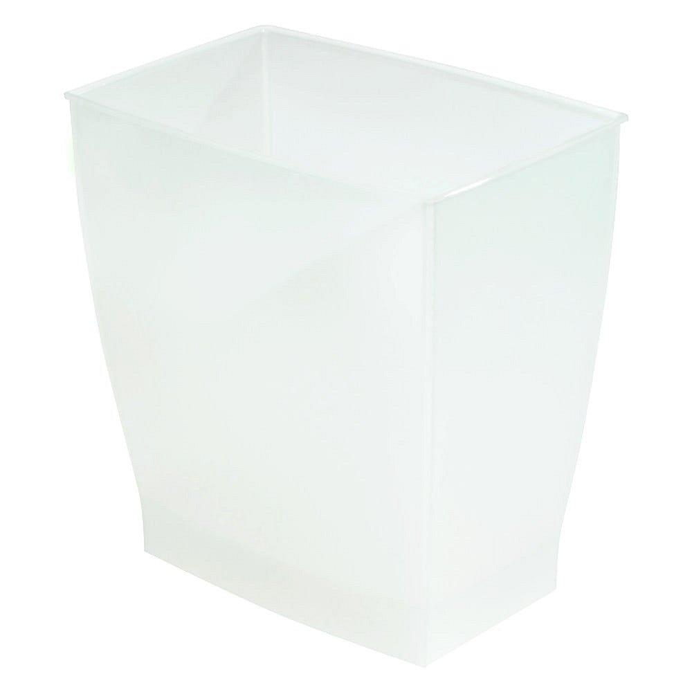 Bílý odpadkový koš iDesign Mono, 15,6l
