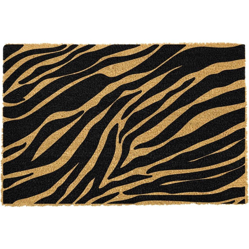 Rohožka z přírodního kokosového vlákna Artsy Doormats Zebra,40x60cm