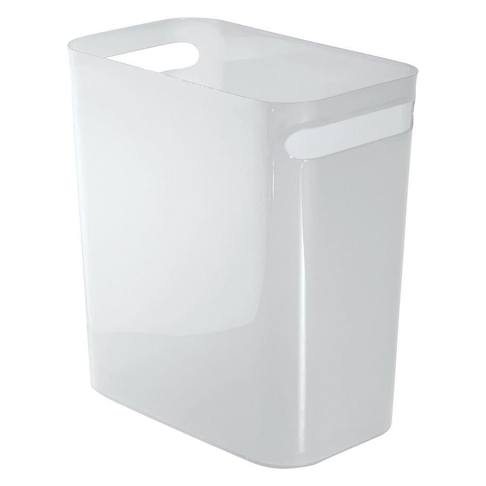 Bílý odpadkový koš iDesign Una, 13,9l