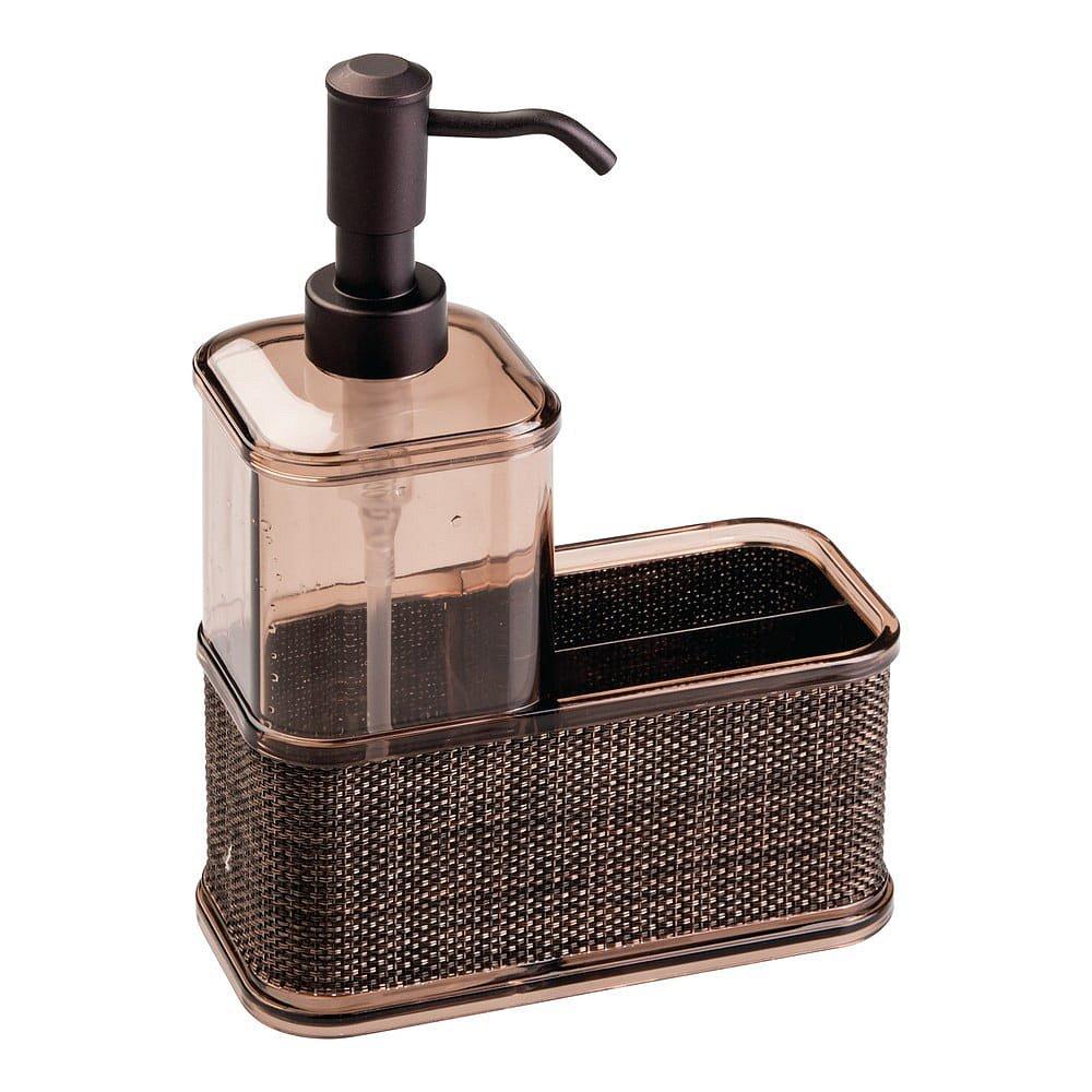 Dávkovač na mýdlo v bronzové barvě iDesign Twillo, 532ml
