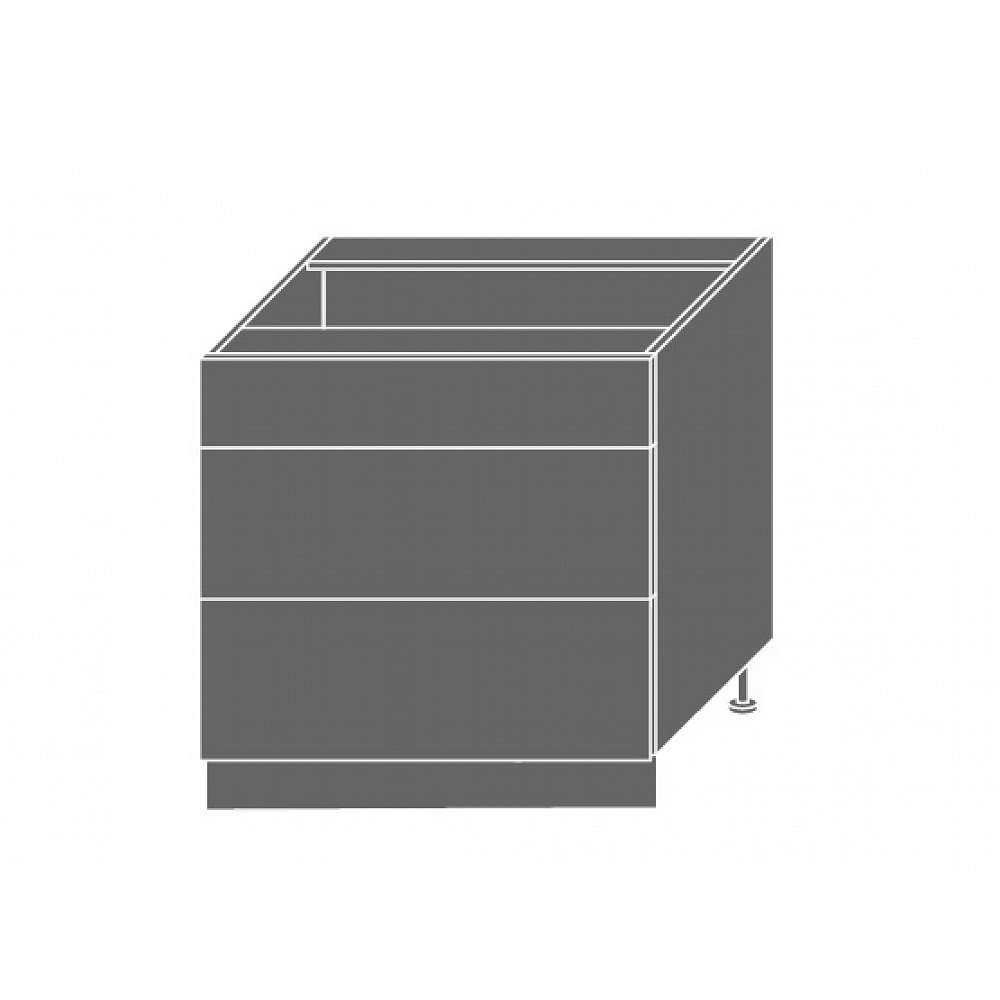 SILVER+, skříňka dolní D3m 80, korpus: lava, barva: latte