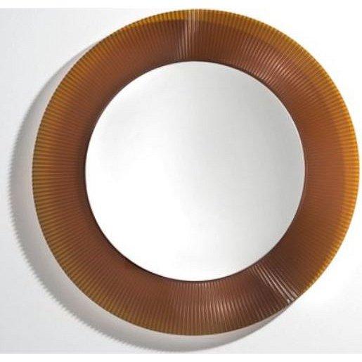 Zrcadlo s LED osvětlením Laufen KARTELL BY LAUFEN 78x78 cm oranžová H3863310820001