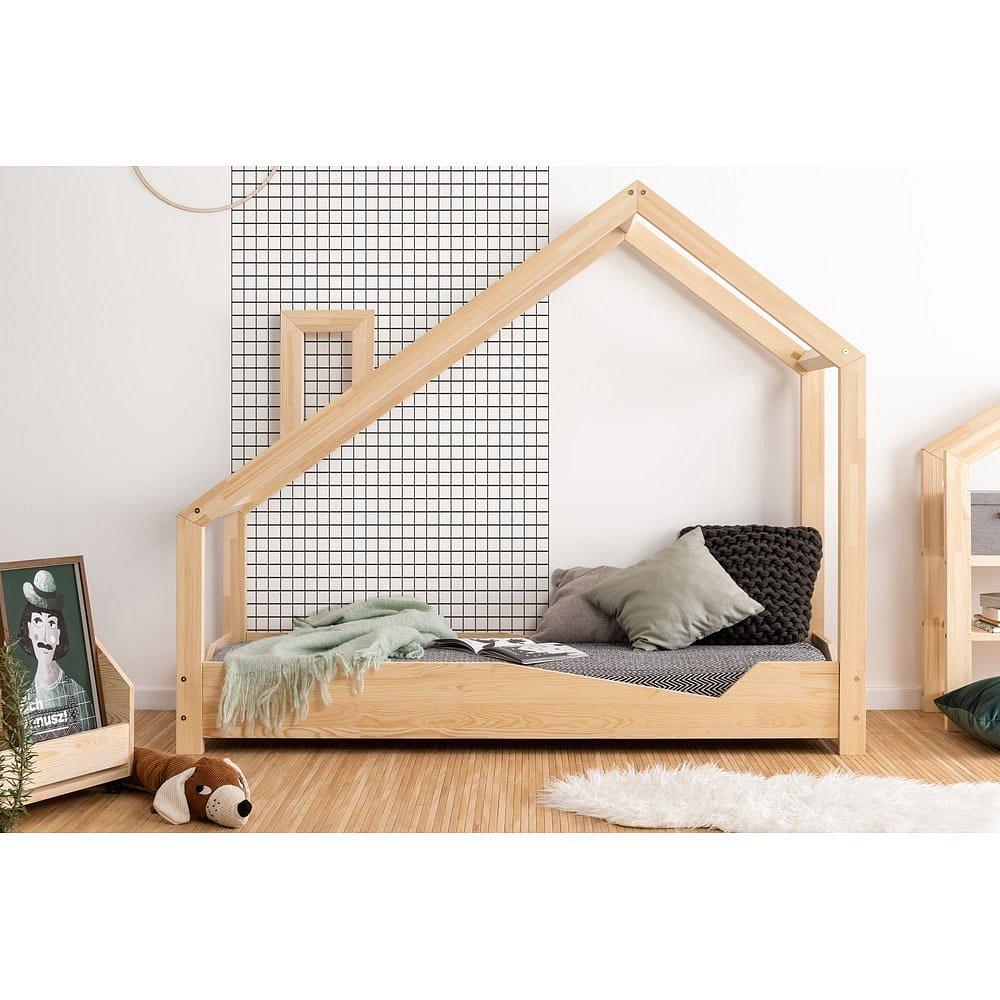 Domečková postel z borovicového dřeva Adeko Luna Adra,100x140cm