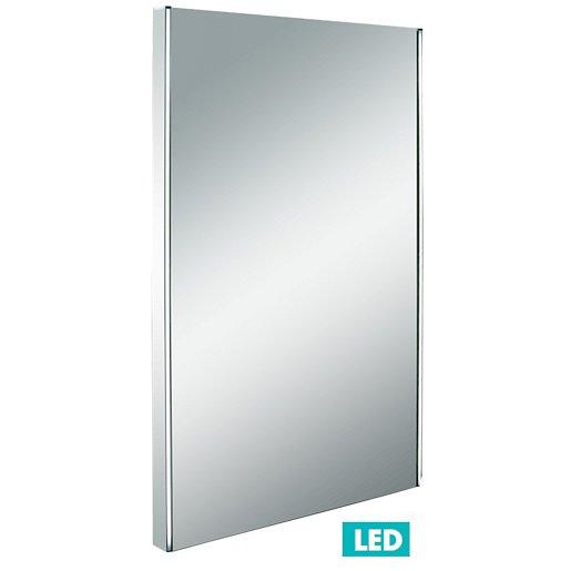 Zrcadlo s LED osvětlením Naturel Iluxit 50x80 cm chrom ZIL5080LED