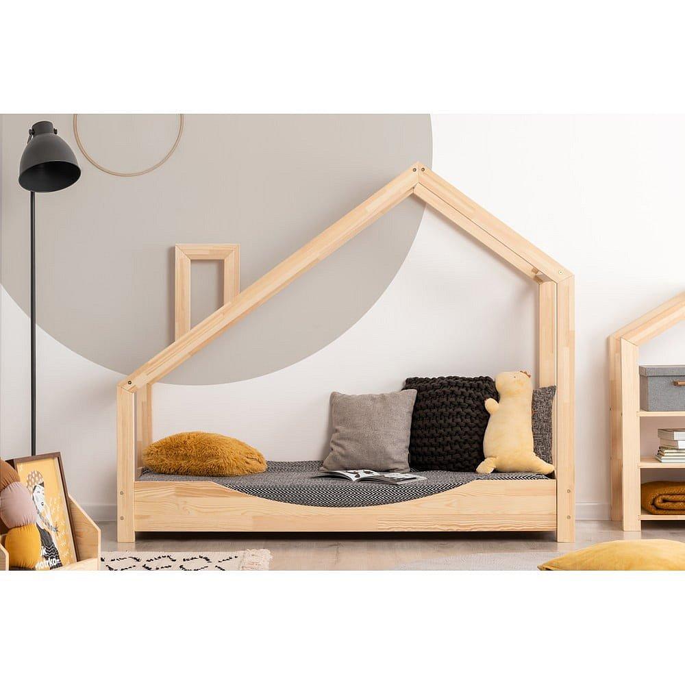 Domečková postel z borovicového dřeva Adeko Luna Elma,70x150cm