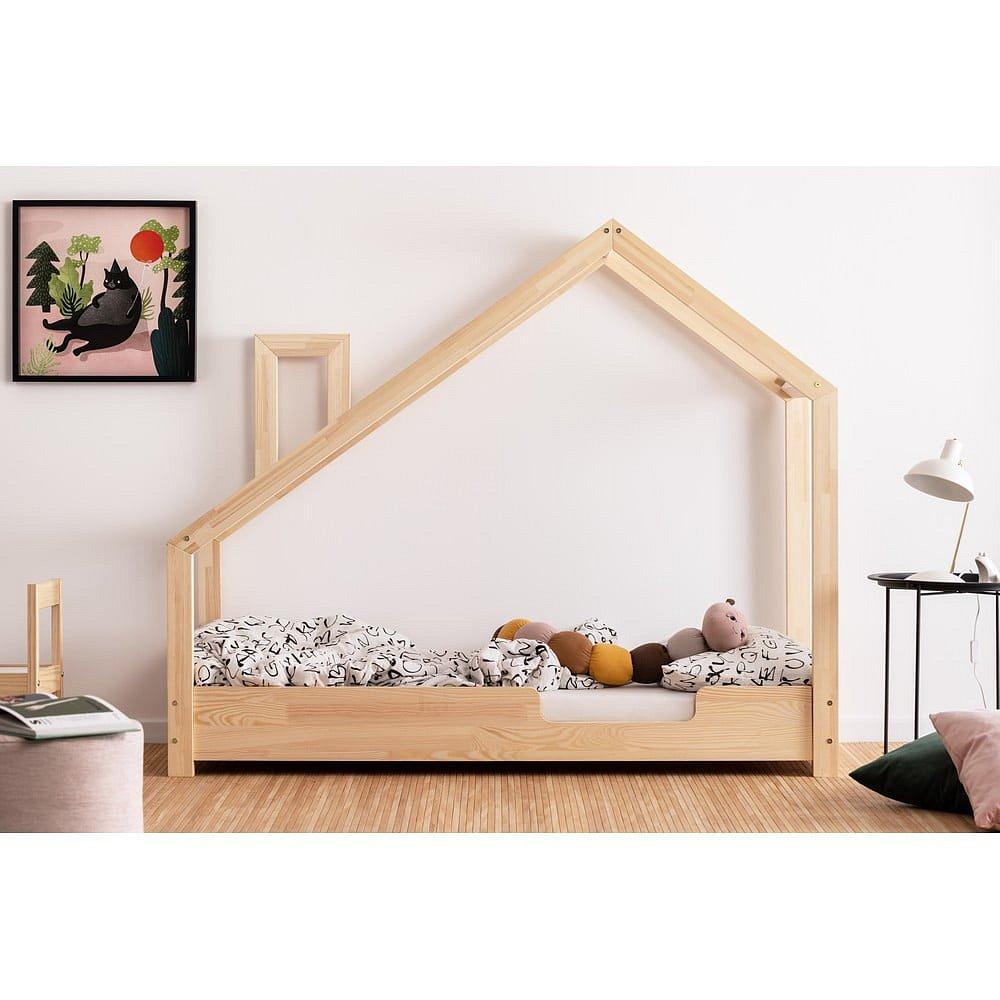 Domečková postel z borovicového dřeva Adeko Luna Carl,80x160cm