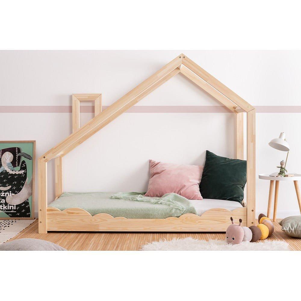 Domečková postel z borovicového dřeva Adeko Luna Drom,90x140cm