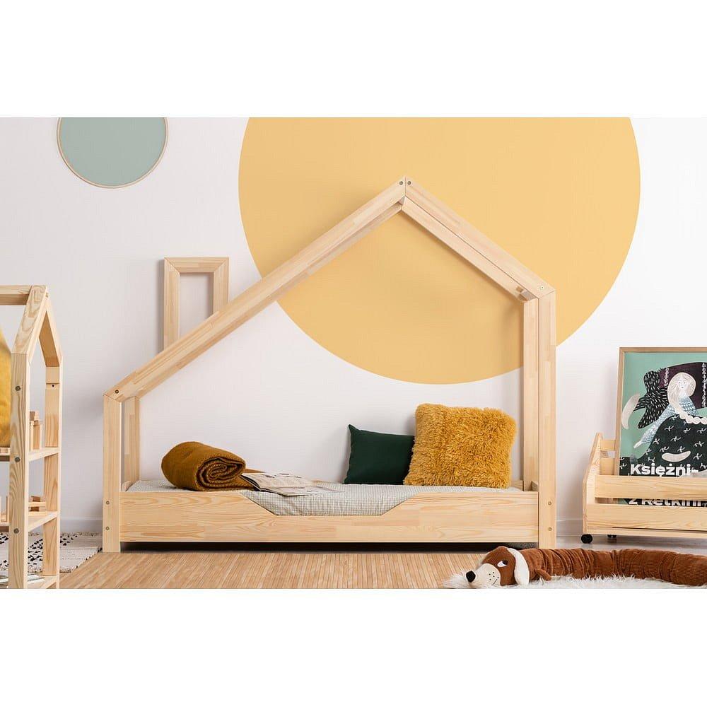 Domečková postel z borovicového dřeva Adeko Luna Bek,70x160cm