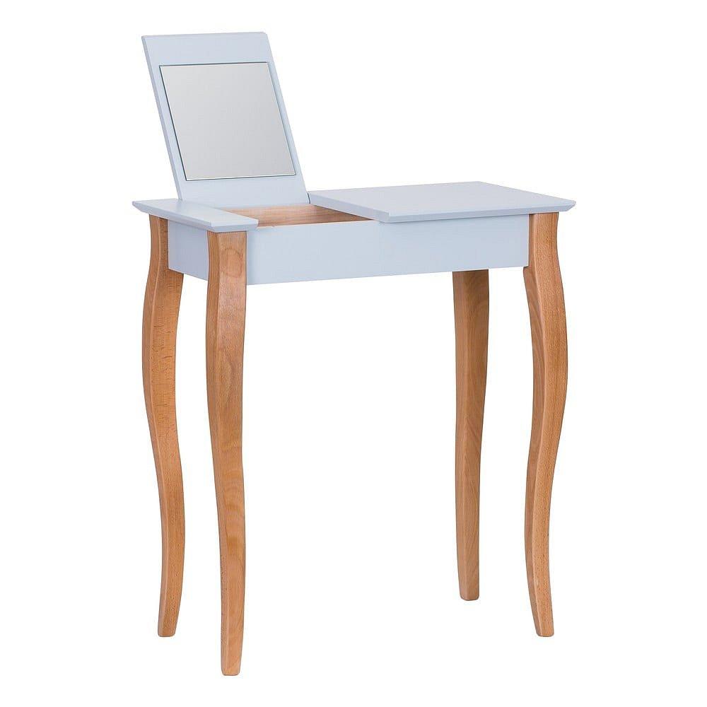 Světle šedý toaletní stolek se zrcadlem Ragaba Dressing Table,délka65cm