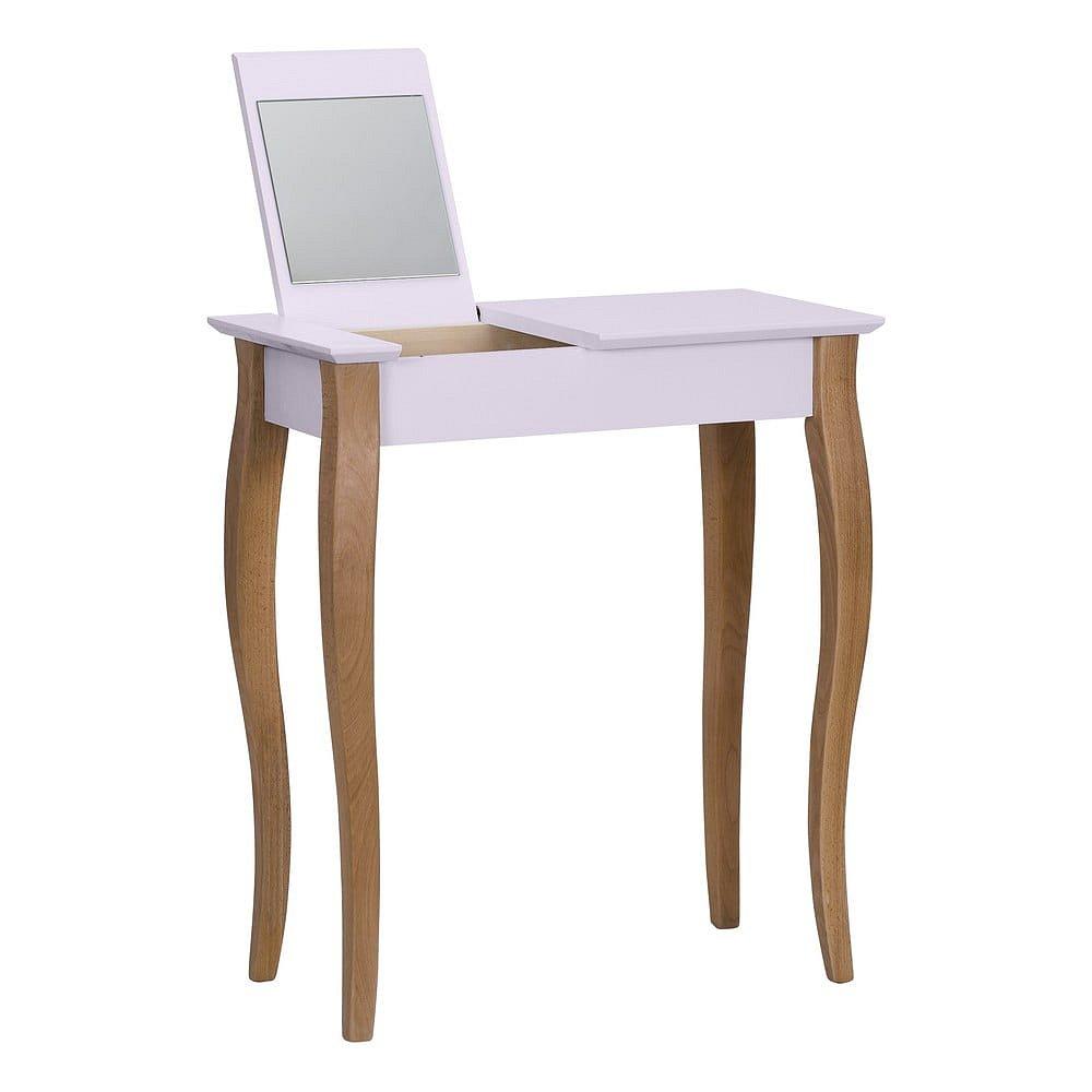 Růžový toaletní stolek se zrcadlem Ragaba Dressing Table,délka65cm