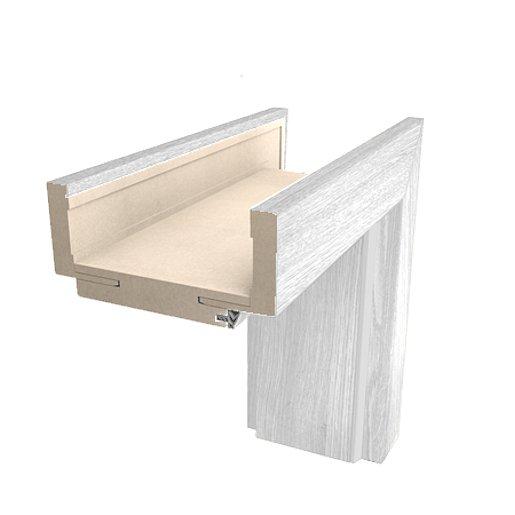 Obložková zárubeň Naturel 70 cm pro tloušťku stěny 14-16 cm borovice bílá levá O4BB70L