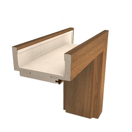 Obložková zárubeň Naturel 60 cm pro tloušťku stěny 14-16 cm ořech karamelový pravá O4OK60P