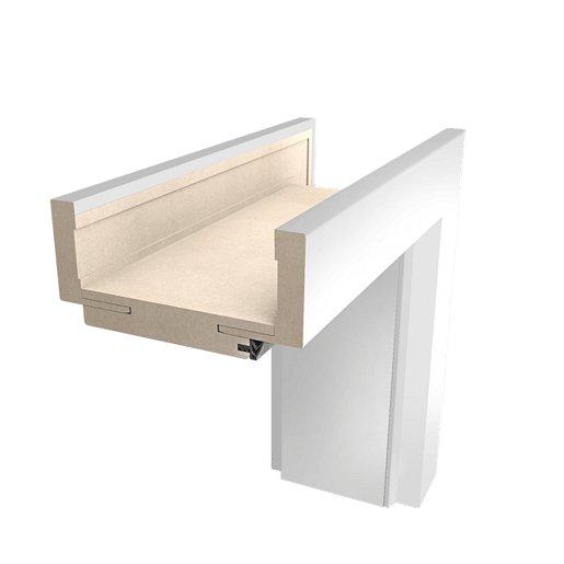 Obložková zárubeň Naturel 70 cm pro tloušťku stěny 9,5-11,5 cm bílá pravá O2BLAK70P