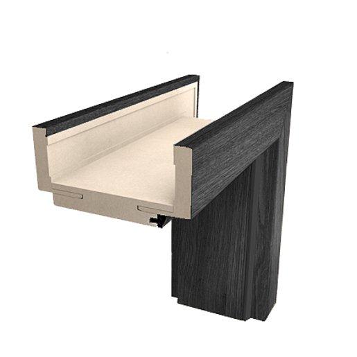 Obložková zárubeň Naturel 80 cm pro tloušťku stěny 9,5-11,5 cm jilm antracit pravá O2JA80P