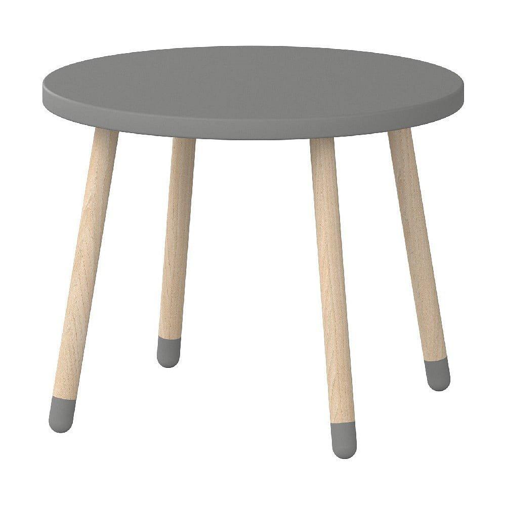 Šedý dětský stolek Flexa Play, ø 60 cm