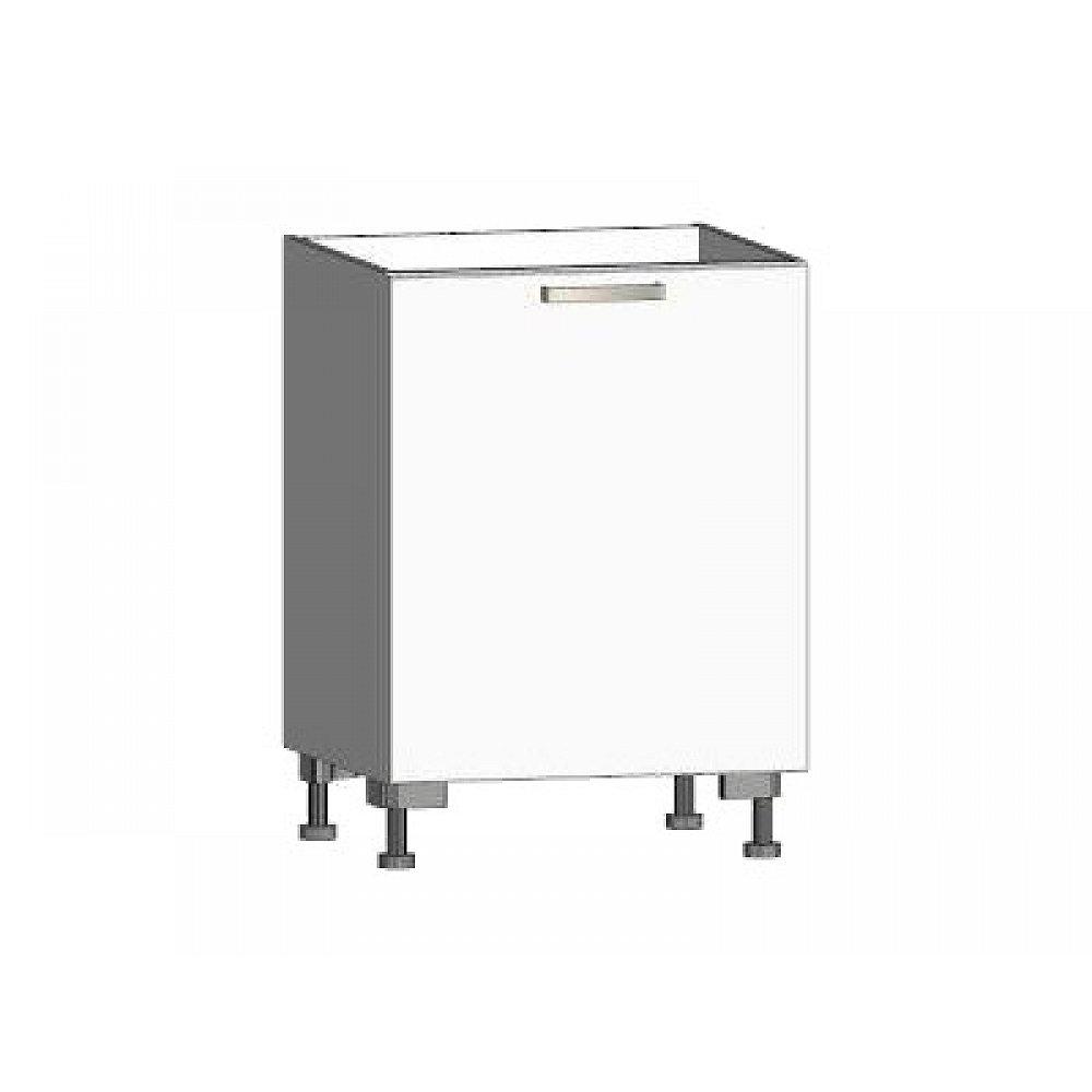 Dolní kuchyňská skříňka One ES60, pravá, bílý lesk, šířka 60 cm