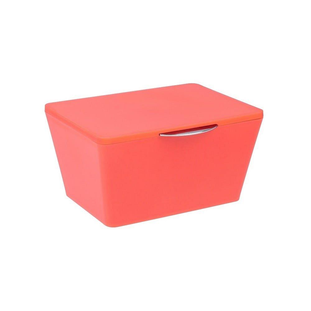 Oranžový úložný box do koupelny Wenko Brasil