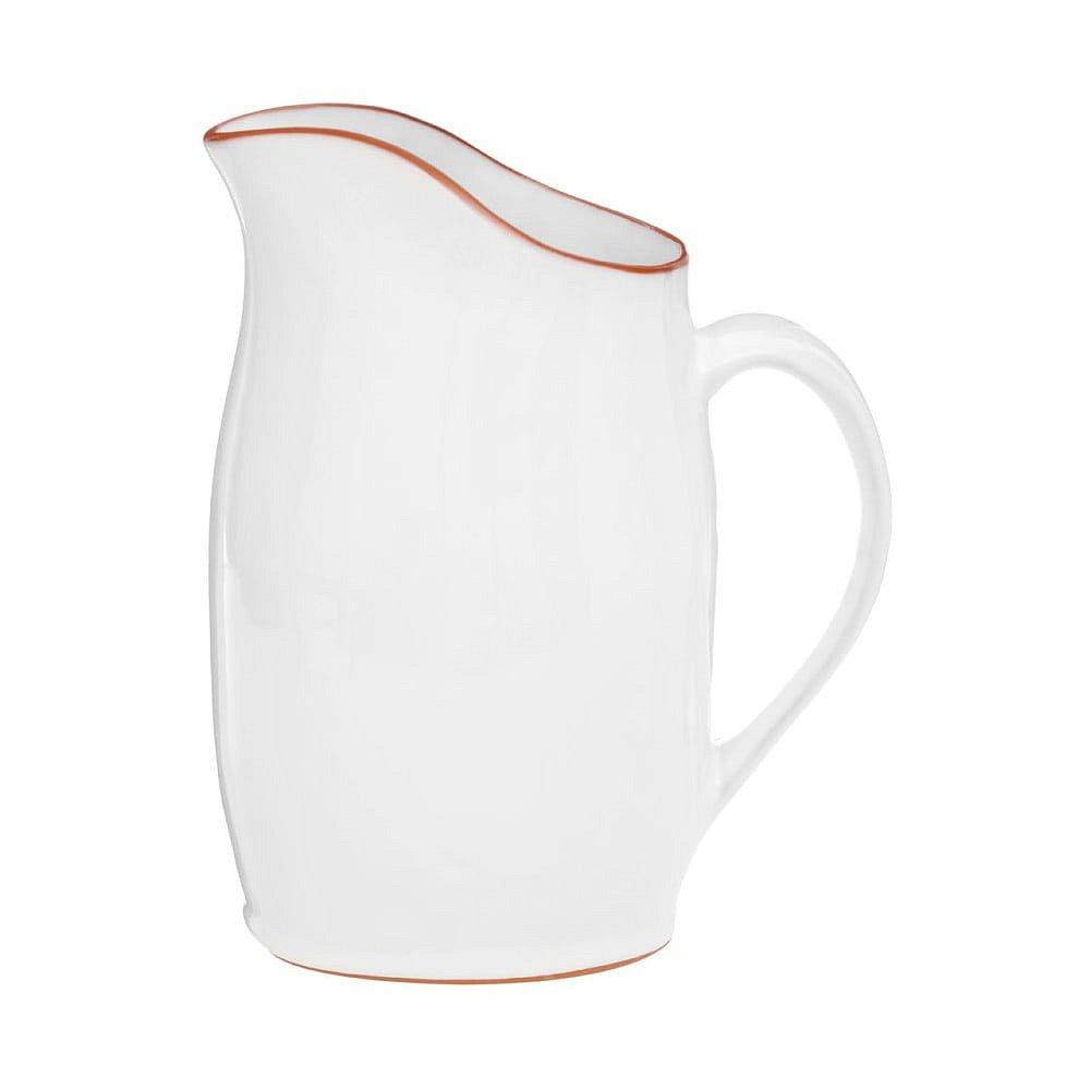 Bílý džbán z glazované terakoty Premier Housewares, 2,5 l