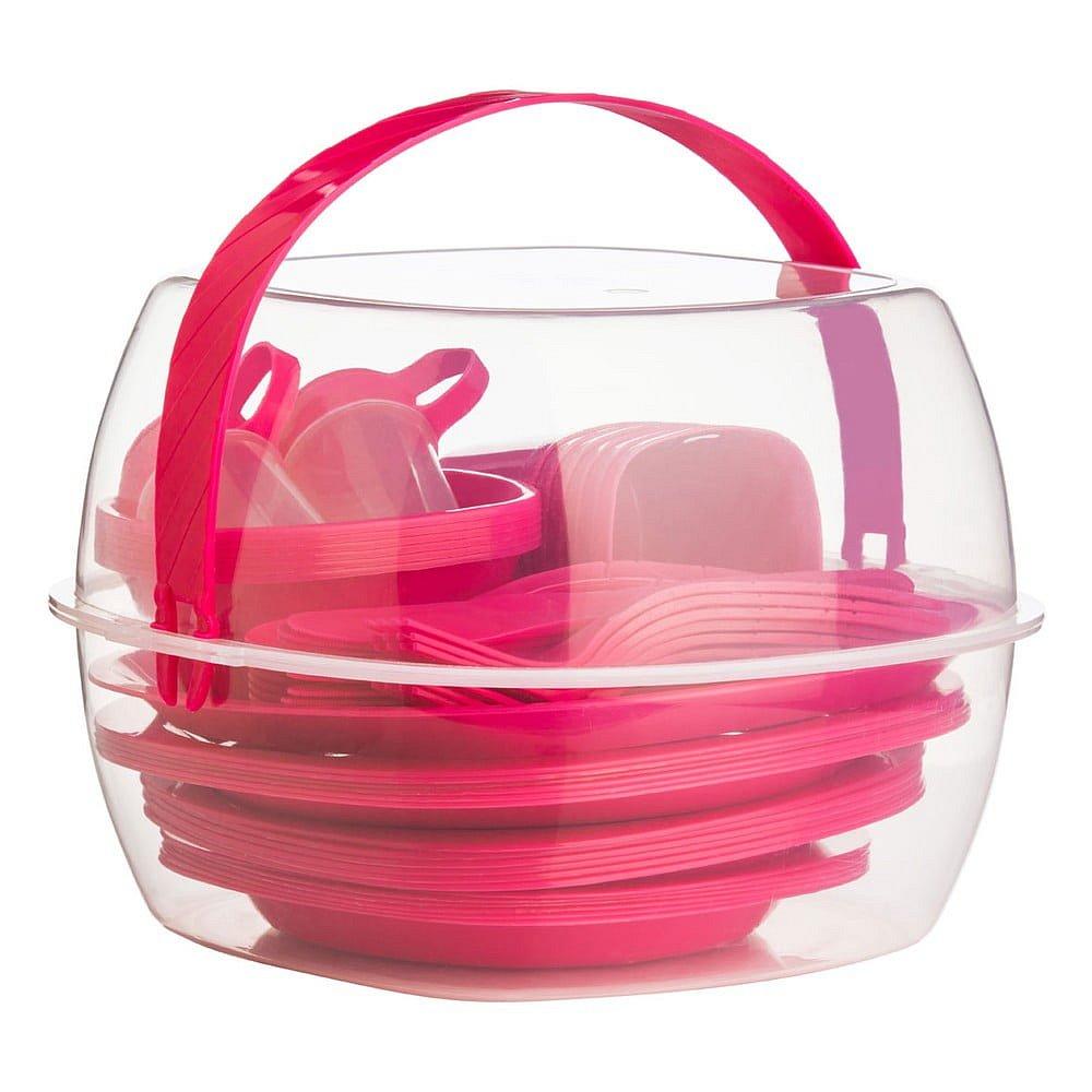 Pikniková sada Premier Housewares Hot Pink, 51ks