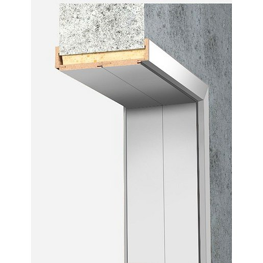 Obložková zárubeň Naturel 90 cm pro tloušťku stěny 18-20 cm bílá levá O4BF90L