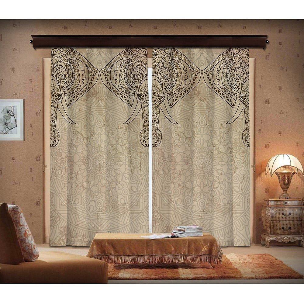 Sada 2 závěsů Curtain Lasta, 140 x 260 cm