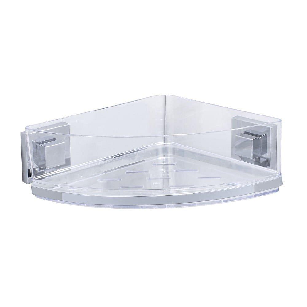 Samodržící rohová polička Wenko Vacuum-Loc, 19,5 x 28 cm