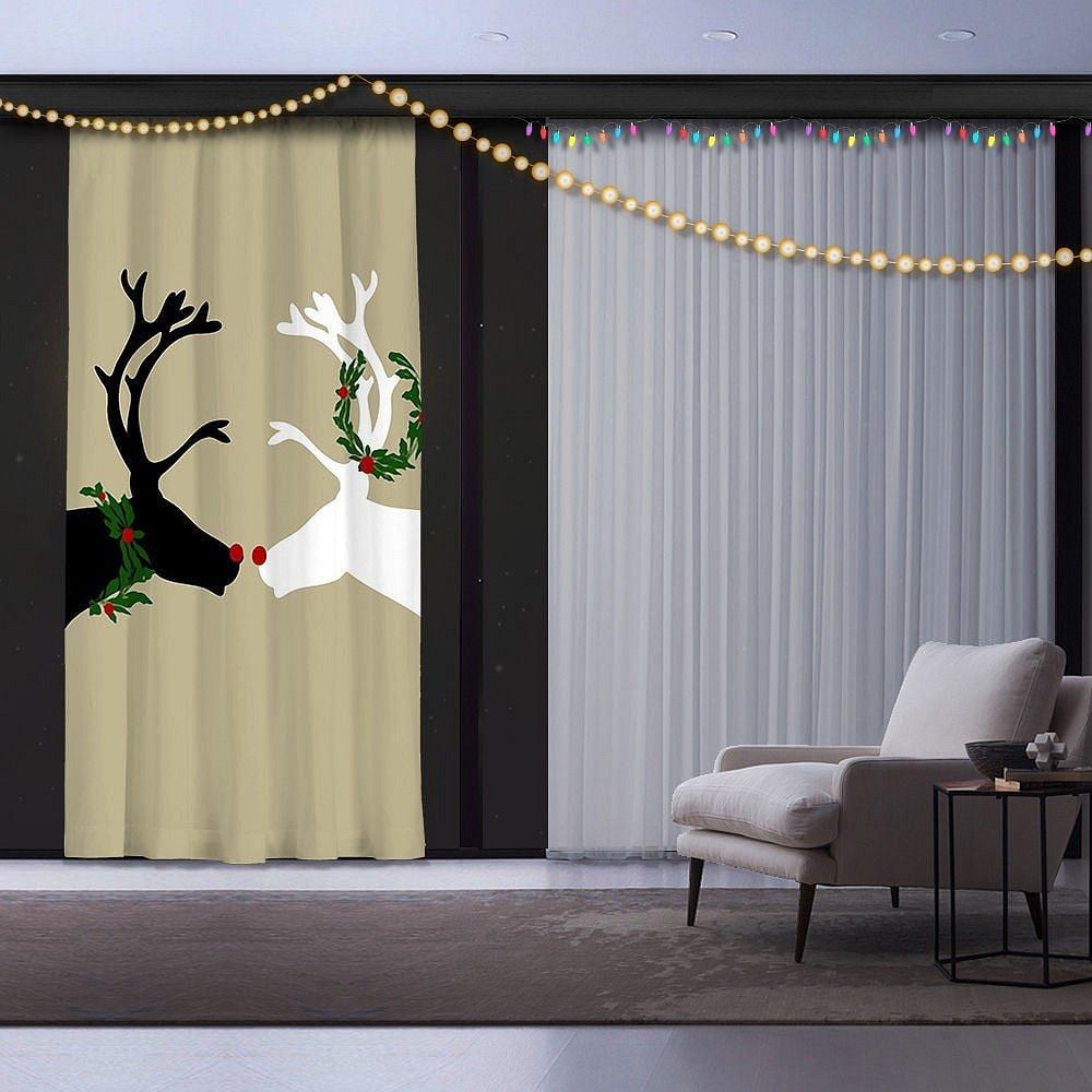 Vánoční závěs Reindeers, 140 x 260 cm