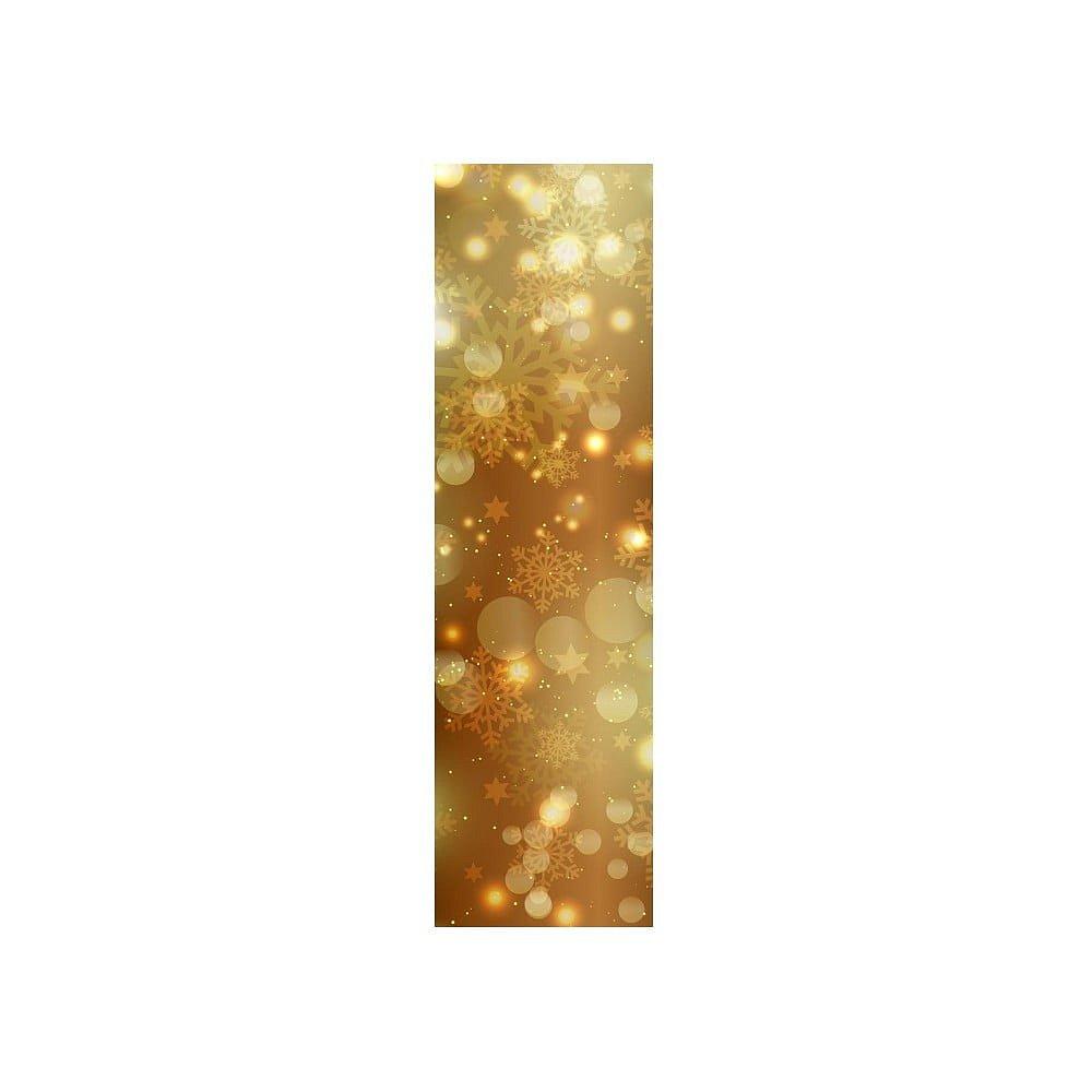 Vánoční běhoun na stůl Gold Shimmer, 40x140 cm