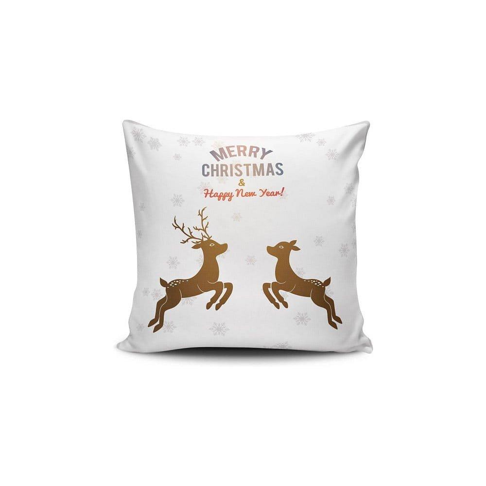 Polštář Reindeeers Jumping, 45x45 cm