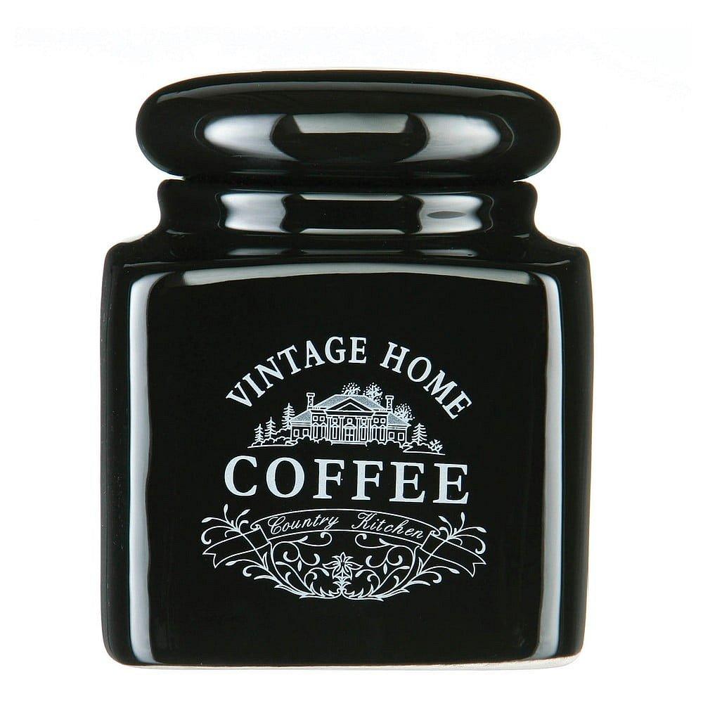 Černá dóza na kávu Premier Housewares Vintage Home