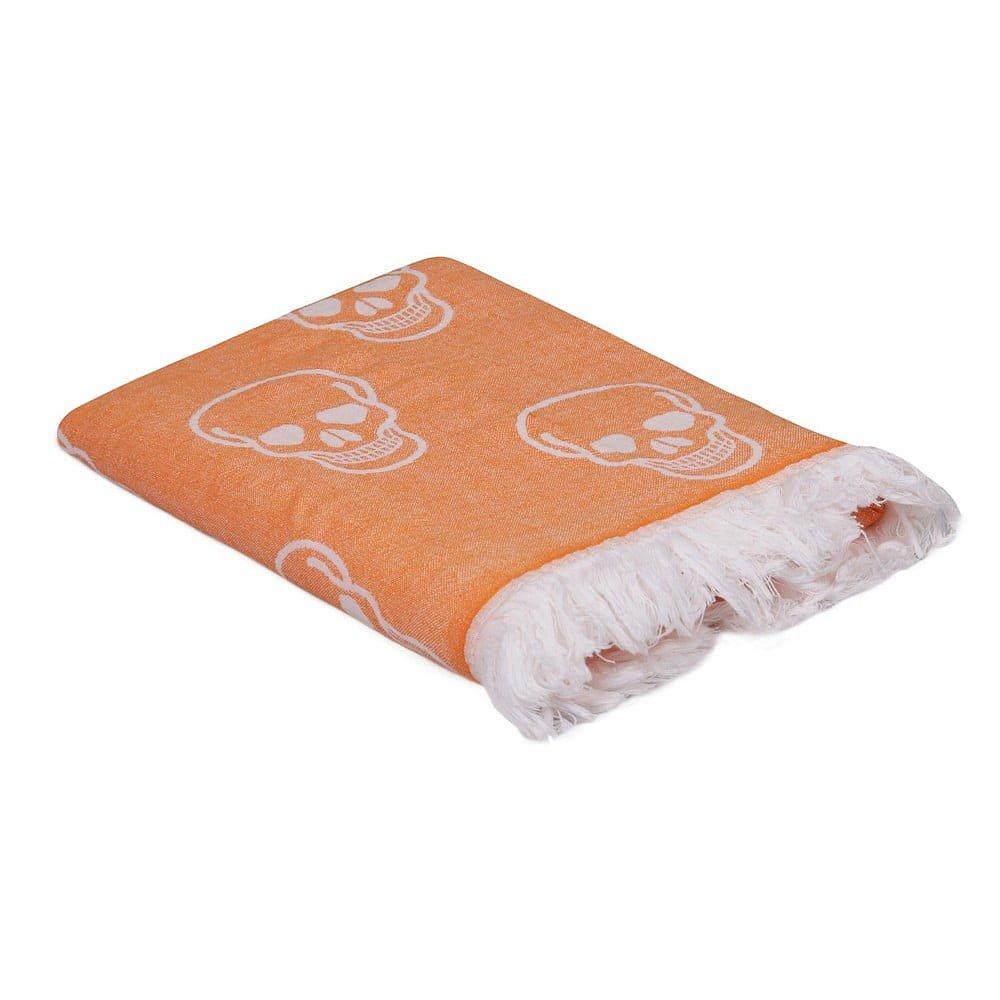 Oranžový ručník Kurukafa, 180 x 100 cm