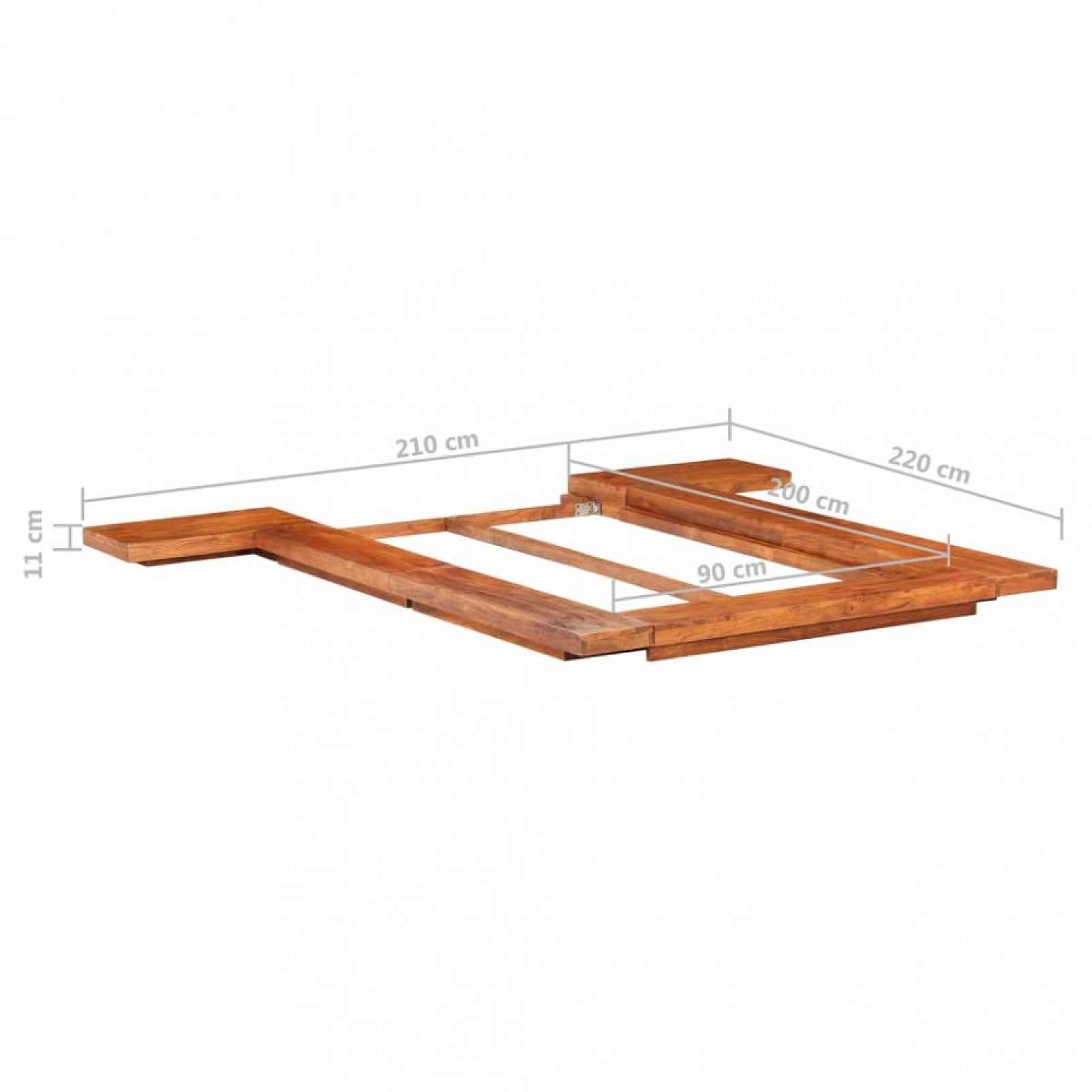 Futonová postel masivní dřevo Dekorhome 90 x 200 cm
