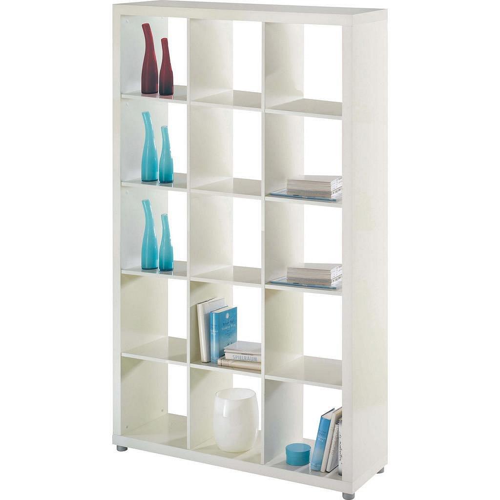 Dělící stěna/Regál/knihovna Aron 15 bílý