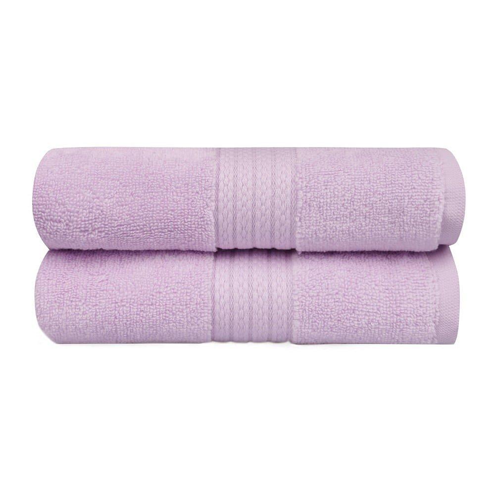 Sada 2 fialových ručníků do koupelny Mira, 90 x 50 cm