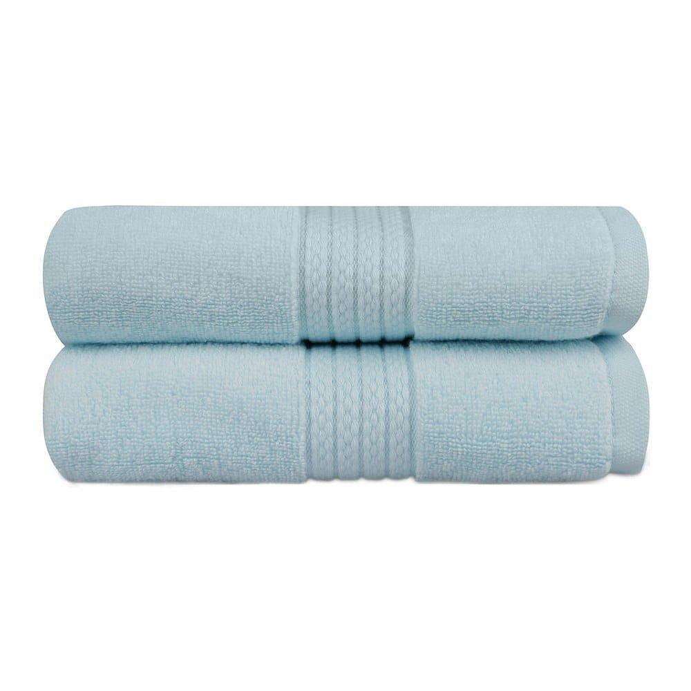 Sada 2 mátově modrých ručníků do koupelny Mira, 90 x 50 cm