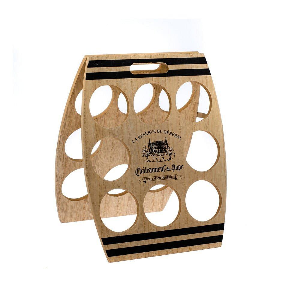 Dřevěný stojan na 8 lahví vína Dakls, 30x38cm