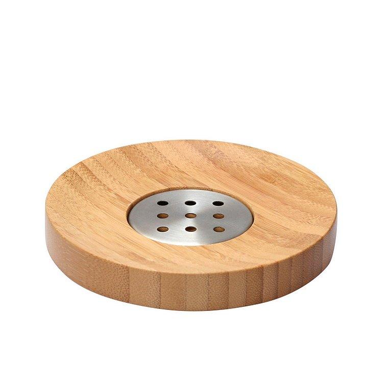 Koupelnová miska na mýdlo Bonja 282332, bambus/kov