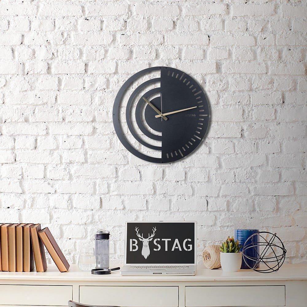 Kovové nástěnné hodiny Black, ø 50 cm
