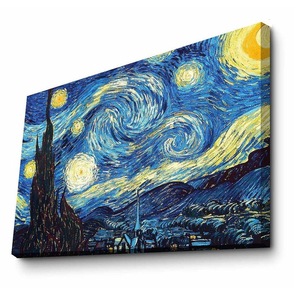 Nástěnná reprodukce na plátně Vincent Van Gogh, 100 x 70 cm