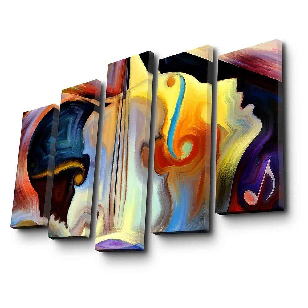 5dílný nástěnný obraz na plátně Psychadelic