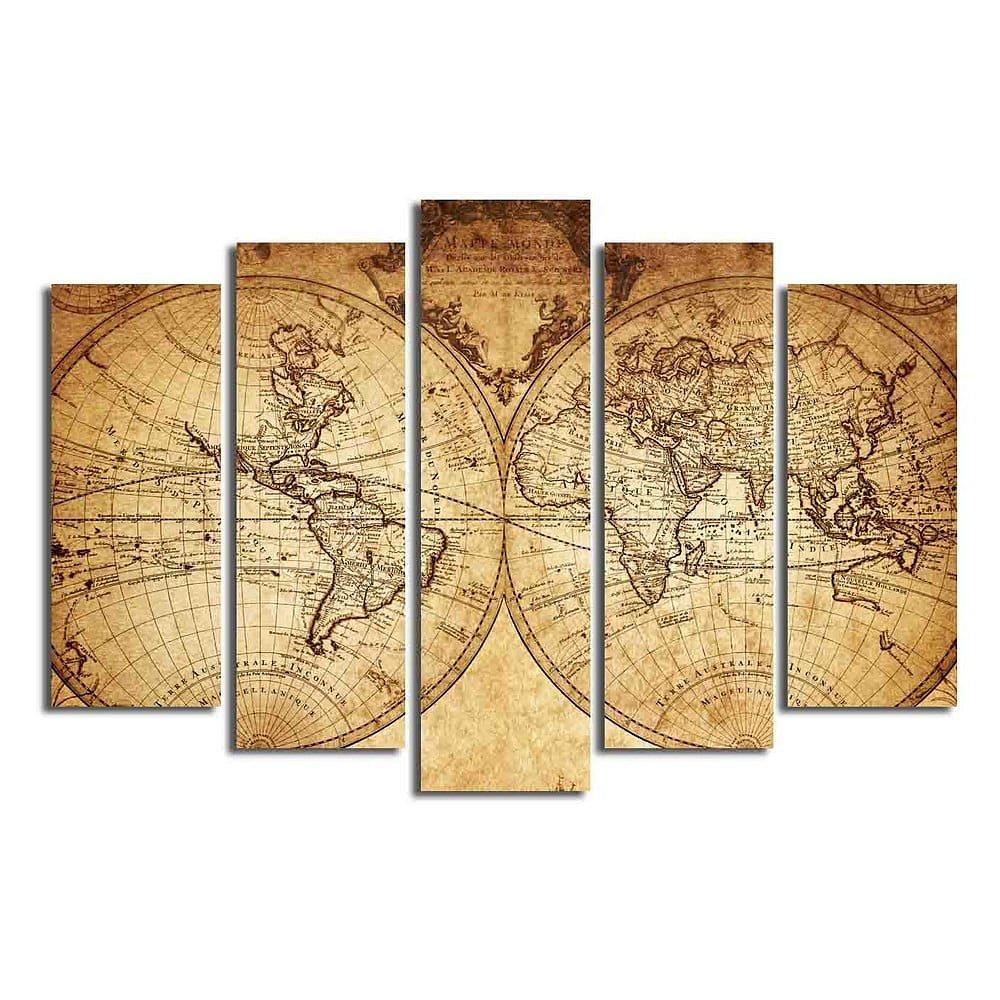Vícedílný obraz Big Map Of The World, 105x70 cm